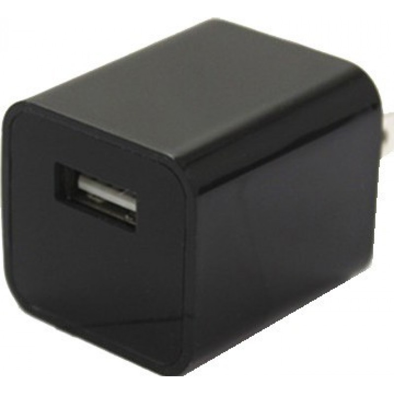 44,95 € Envío gratis | Otras Cámaras Ocultas Mini cámara oculta (DVR). Adaptador cargador. Cargador de enchufe de EE. UU. / UE. Memoria interna 8 Gb 1080P Full HD