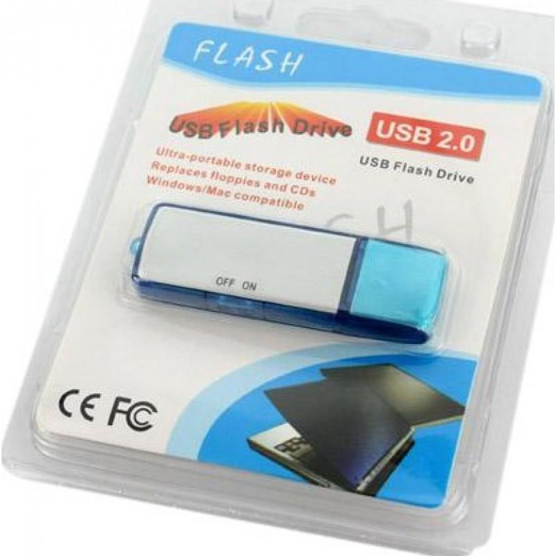 信号探测器 USB闪存盘隐藏式录音机。数字录音机 8 Gb