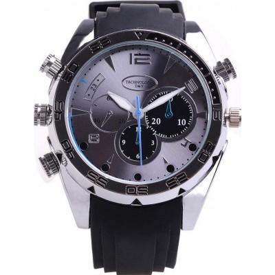 46,95 € Envio grátis | Relógios de Pulso Espiã Relógio de espião resistente à água. Câmera escondida. Função de câmera do PC. Visão noturna. Exibição em tempo real 1080P Full HD