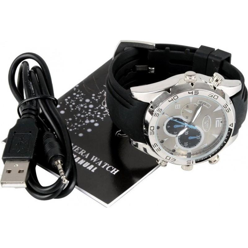 46,95 € 免费送货 | 观看隐藏的相机 防水间谍手表。隐藏的相机。 PC相机功能。夜间视力。实时显示 1080P Full HD
