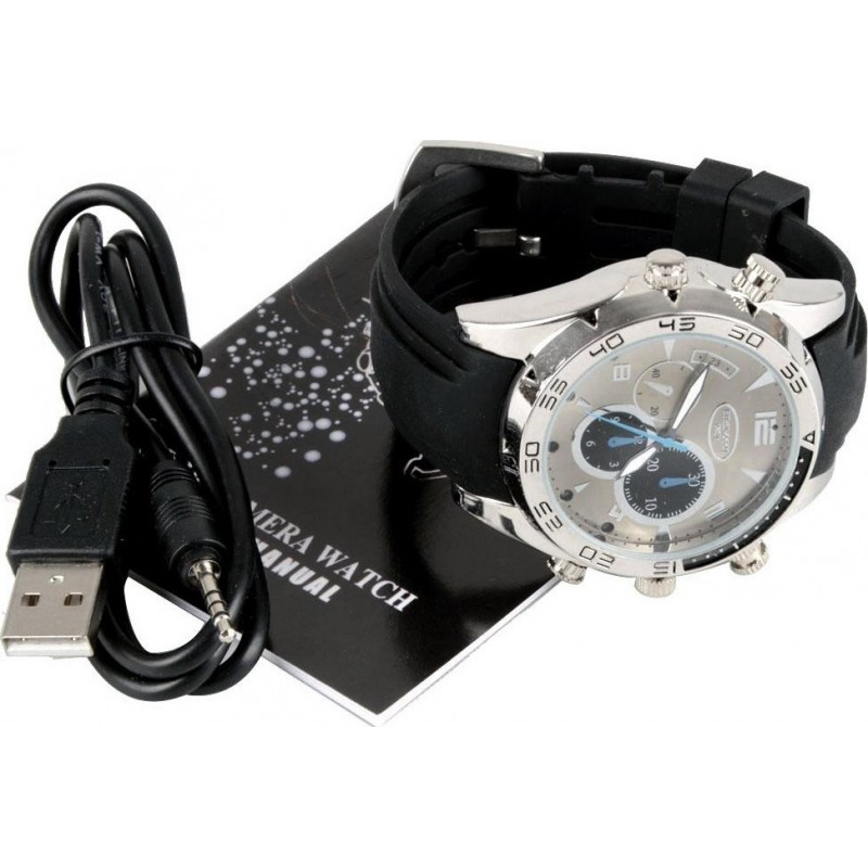 46,95 € Free Shipping | Watch Hidden Cameras Water Resistant spy watch. Hidden camera. PC Camera function. Night vision. Real time display 1080P Full HD