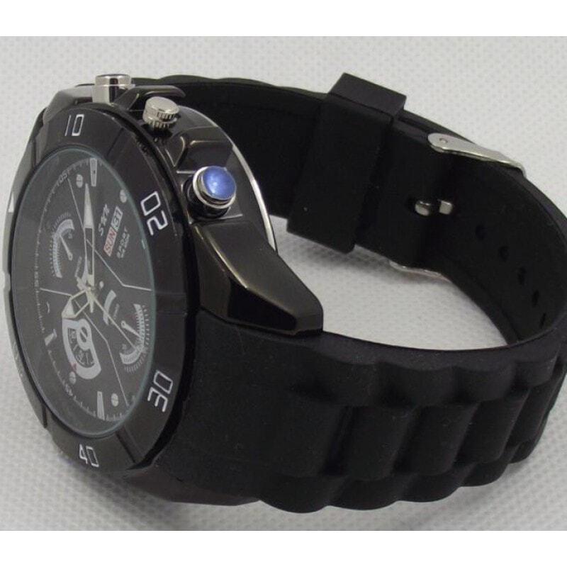 Шпионские наручные часы Шпионские часы. Скрытая камера. Цифровой видеорегистратор (DVR). Определение движения. ИК ночного видения. Литиевая батарея 1080P Full HD