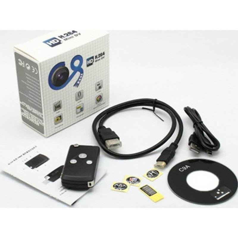 Шпионские ключи Универсальный автомобильный ключ скрытой камеры. Скрытый видеорегистратор (DVR). ИК зрение. Определение движения 1080P Full HD