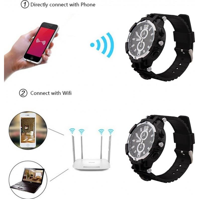 75,95 € Envoi gratuit   Montres à Bracelet Espion Montre WiFi Spy. Contrôlé et Vu depuis votre téléphone portable. Caméra cachée. Vision nocturne IR. Détection de mouvement 720P HD
