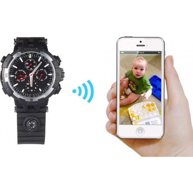 72,95 € Envoi gratuit   Montres à Bracelet Espion Montre WiFi Spy. Contrôlé et Vu depuis votre téléphone portable. Caméra cachée. Vision nocturne IR. Détection de mouvement 720P HD