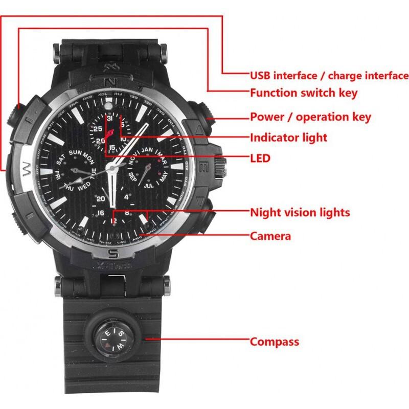 72,95 € Kostenloser Versand   Armbanduhren mit versteckten Kameras WiFi Spy Watch. Kontrolliert und gesehen von Ihrem Handy. Versteckte Kamera. IR Nachtsicht. Bewegungserkennung 720P HD