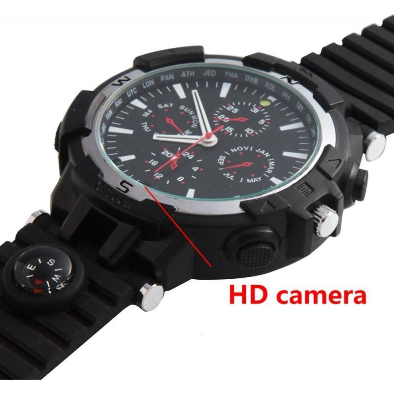 72,95 € Бесплатная доставка | Шпионские наручные часы WiFi Spy часы. Контролируется и просматривается с вашего мобильного телефона. Скрытая камера. ИК ночного видения. Определение дв 720P HD
