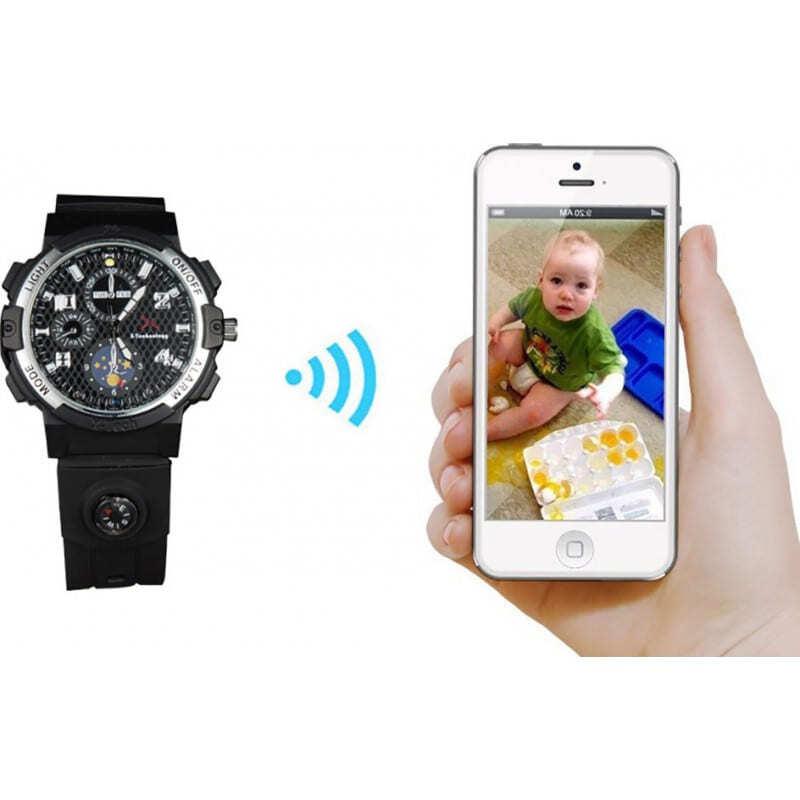 72,95 € Envoi gratuit | Montres à Bracelet Espion Montre WiFi Spy. Contrôlé et Vu depuis votre téléphone portable. Caméra cachée. Vision nocturne IR. Détection de mouvement 720P HD