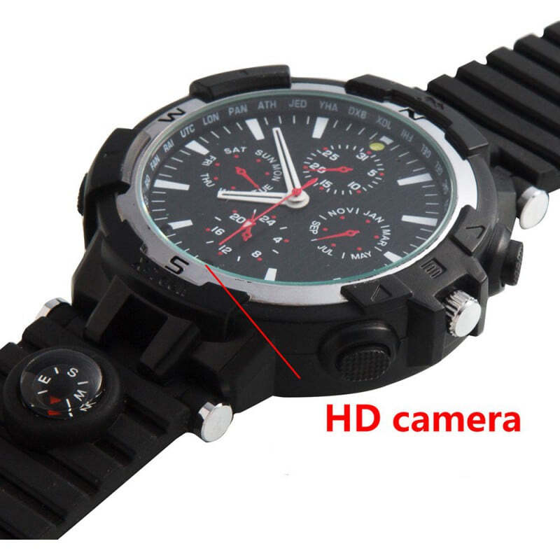 72,95 € Free Shipping | Watch Hidden Cameras WiFi Spy watch. Controlled and Viewed from your cell phone. Hidden camera. IR night vision. Motion detection 720P HD