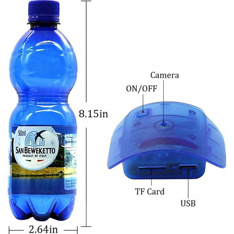 29,95 € Free Shipping | Other Hidden Cameras Water bottle hidden camera. Motion activated. Real drinking bottle 1080P Full HD