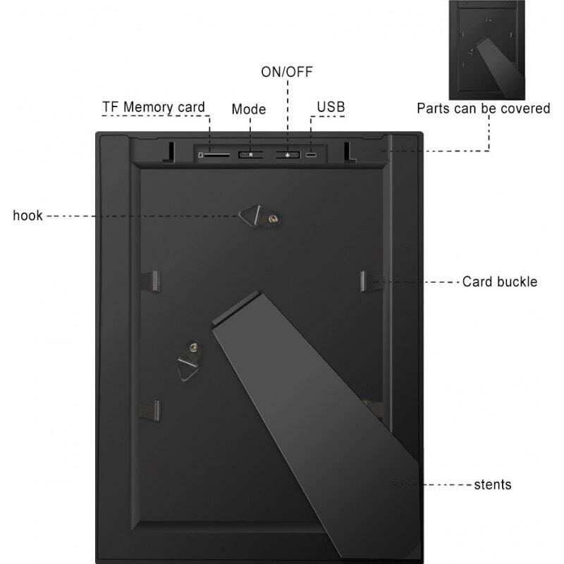 Andere versteckte Kameras Spy Fotorahmen. Versteckte Kamera. IR Nachtsicht. Bewegungserkennung. W-lan. Per Handy ferngesteuert und angesehen 1080P Full HD