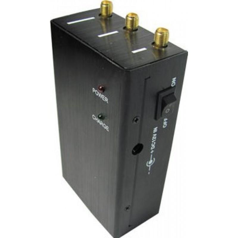 47,95 € 免费送货   手机干扰器 高功率便携式信号阻断器 GPS GSM Portable