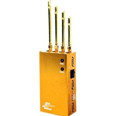 Мощный портативный блокатор сигналов. Цвет золота GPS