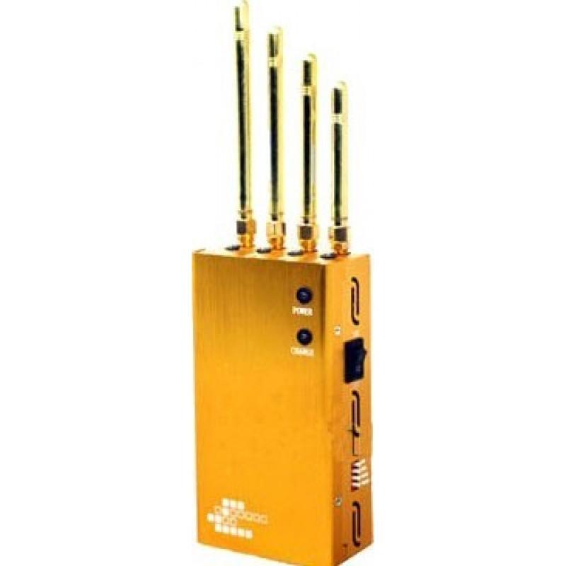 62,95 € Бесплатная доставка | Блокаторы мобильных телефонов Мощный портативный блокатор сигналов. Цвет золота GPS Portable