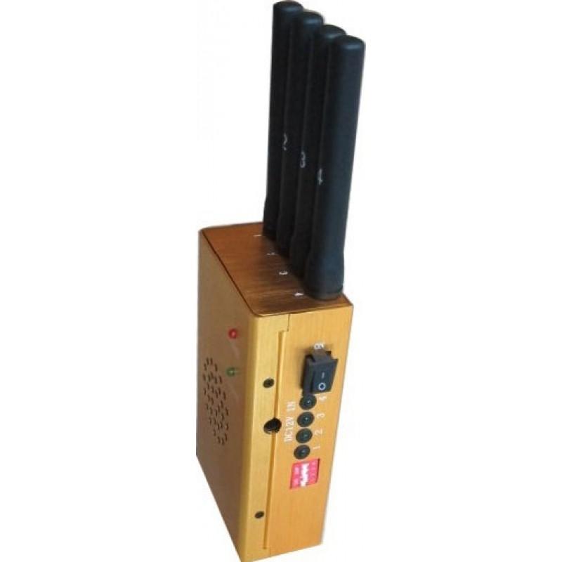 65,95 € Бесплатная доставка | Блокаторы мобильных телефонов Мощный портативный блокатор сигналов GPS GSM Portable