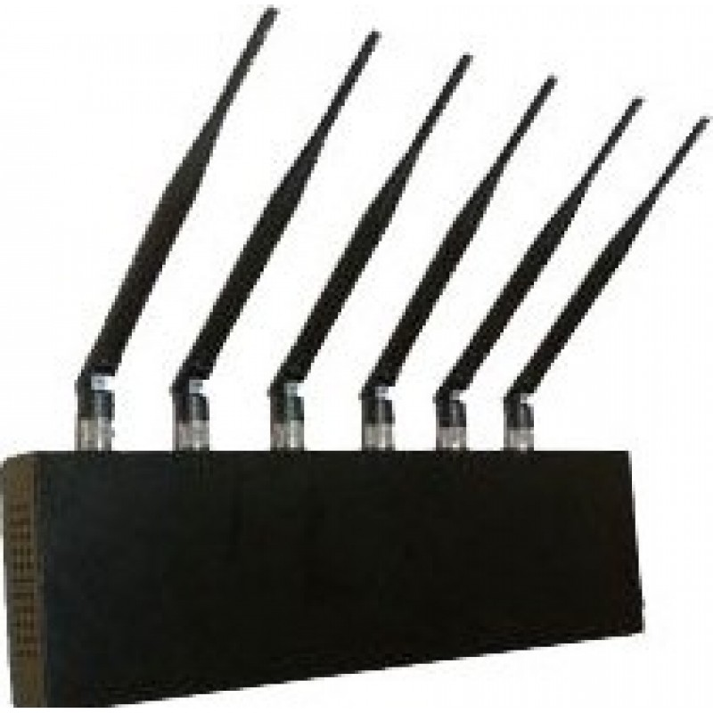 99,95 € Free Shipping   Cell Phone Jammers 6 Antennas. World Wide usage signal blocker GPS