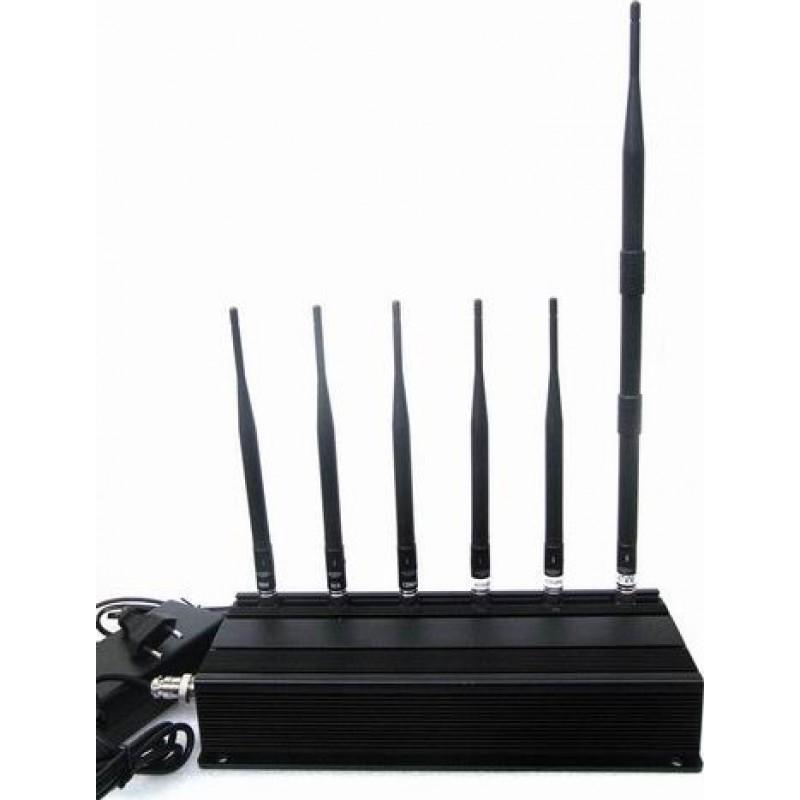 114,95 € Бесплатная доставка   Блокаторы мобильных телефонов 6 Антенны блокировщик сигнала GPS 3G