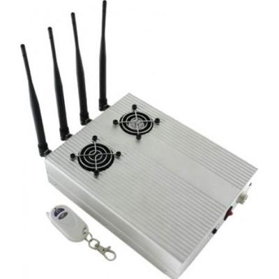 高功率桌面信号拦截器,带2个冷却风扇 Cell phone