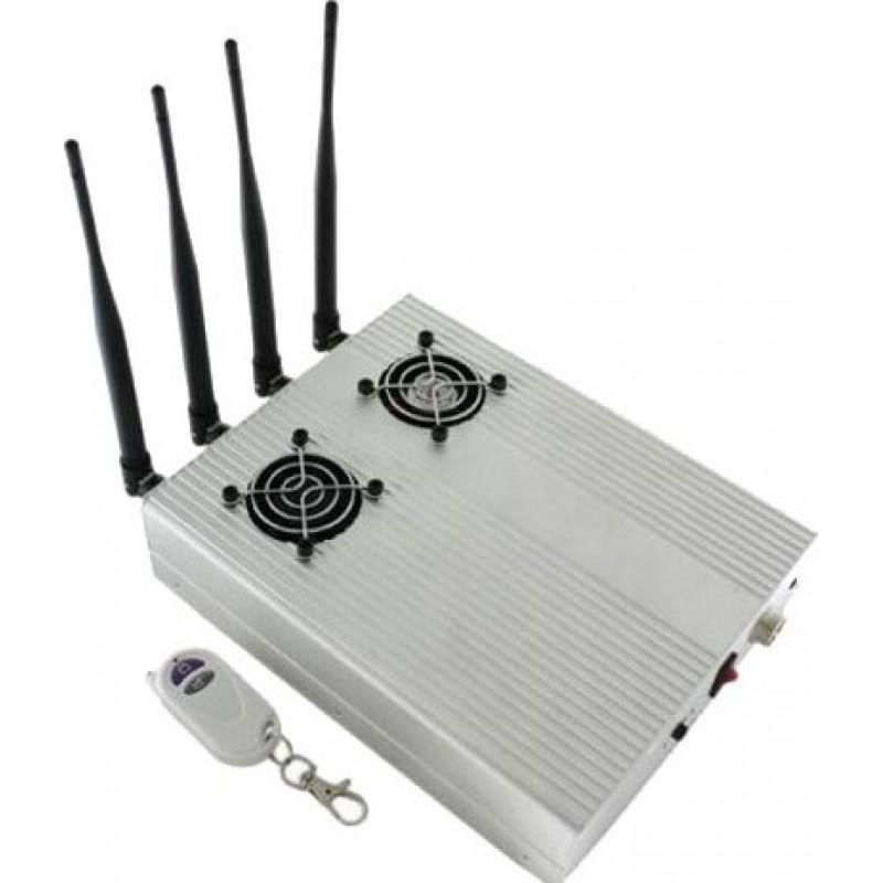 85,95 € 免费送货 | 手机干扰器 高功率桌面信号拦截器,带2个冷却风扇 Cell phone GSM Desktop