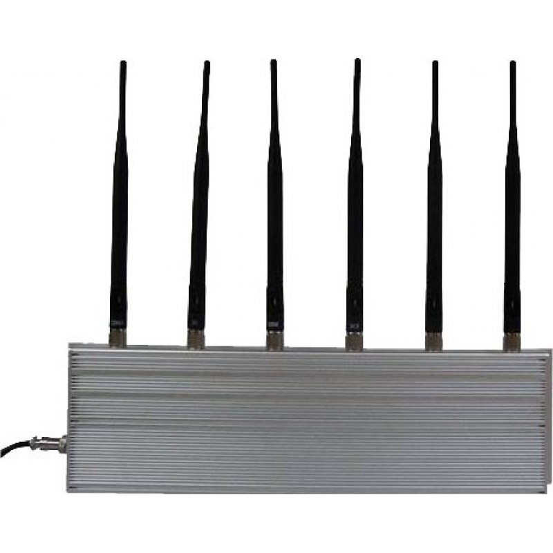 97,95 € Free Shipping | Cell Phone Jammers 6 Antennas. High power signal blocker Cell phone 3G
