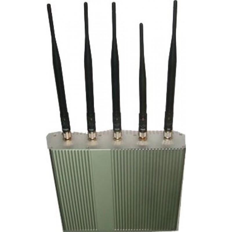 87,95 € 免费送货 | 手机干扰器 5天线。信号阻断器带遥控器 Cell phone GSM