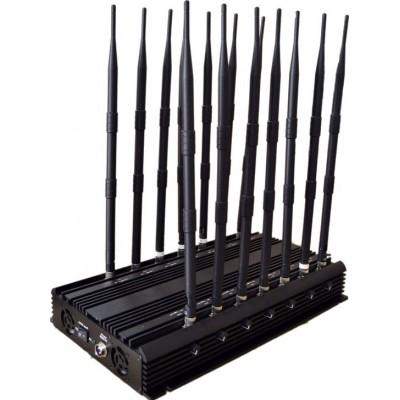 14 antenas. Bloqueador de señal potente y ajustable. Bloqueador de señal de todas las bandas telefónicas GPS