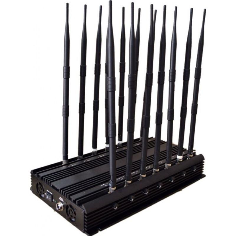 296,95 € Envío gratis | Bloqueadores de Teléfono Móvil 14 antenas. Bloqueador de señal potente y ajustable. Bloqueador de señal de todas las bandas telefónicas GPS GSM