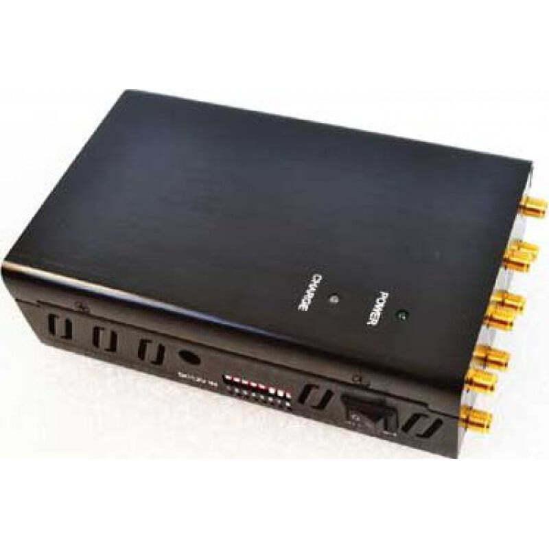132,95 € Envoi gratuit | Bloqueurs de Téléphones Mobiles 8 antennes. Bloqueur de signal portable GPS 3G Handheld