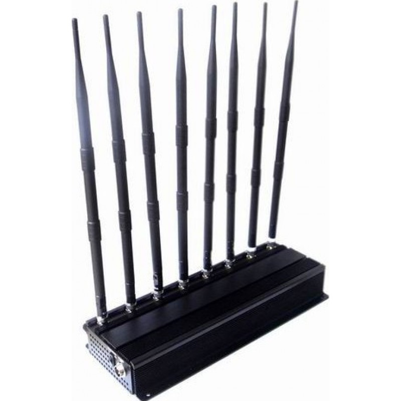 186,95 € Free Shipping | Cell Phone Jammers 8 Bandss Adjustable powerful signal blocker GPS GPS L1