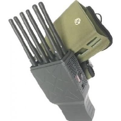 Handheld-Signalblocker. 6 Bänder. Alle Handys signalisieren Blocker. Nylonhülle Cell phone