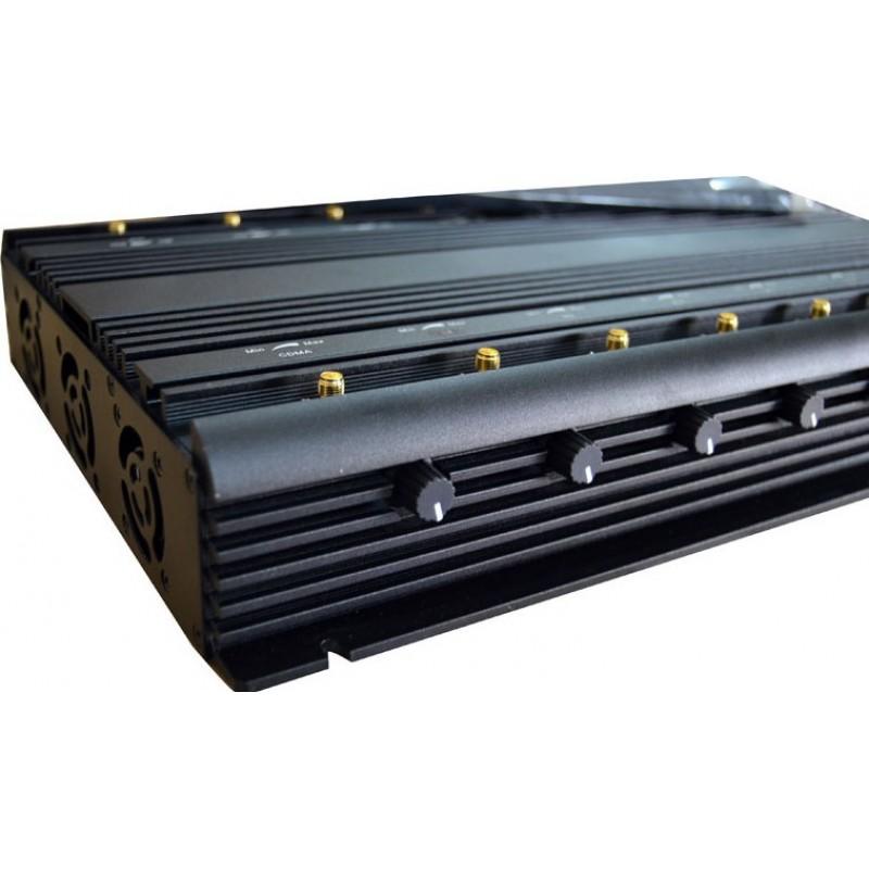 346,95 € 免费送货 | 手机干扰器 全频段。可调节强大的信号阻断器。 16天线 GPS GSM
