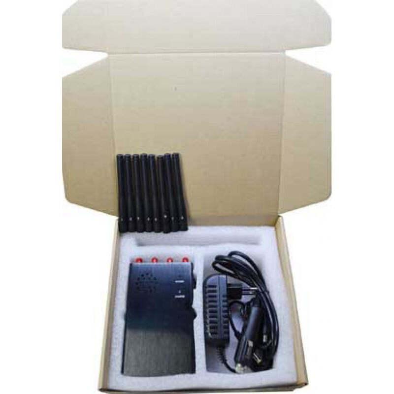 132,95 € Envío gratis | Bloqueadores de Teléfono Móvil 8 antenas. Bloqueador de señal de mano Cell phone 3G Handheld