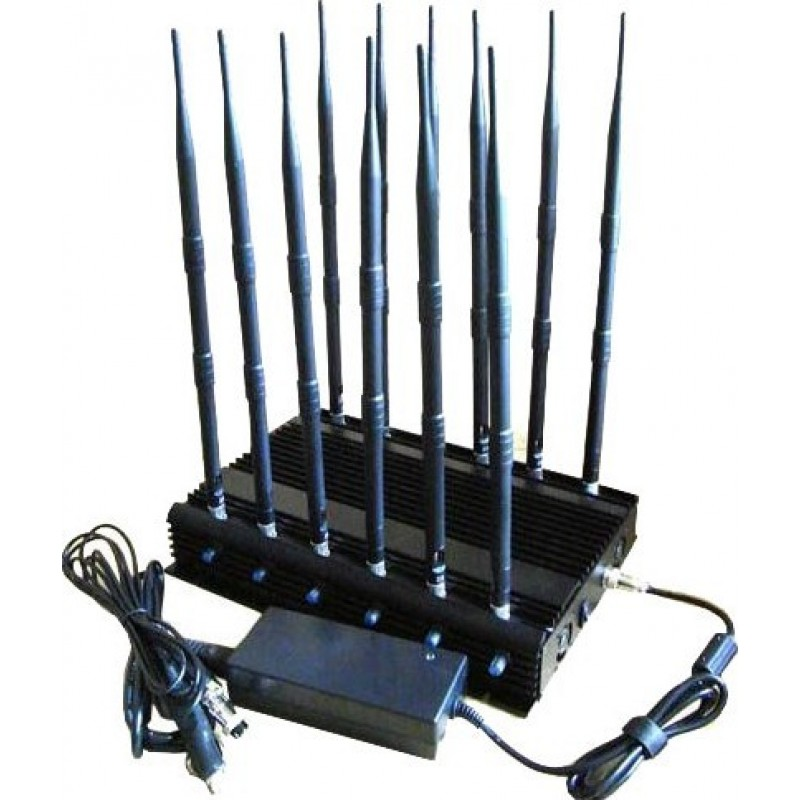 238,95 € Free Shipping | Cell Phone Jammers 12 bands. RF signal blocker. 130MHz-500MHz GPS GSM