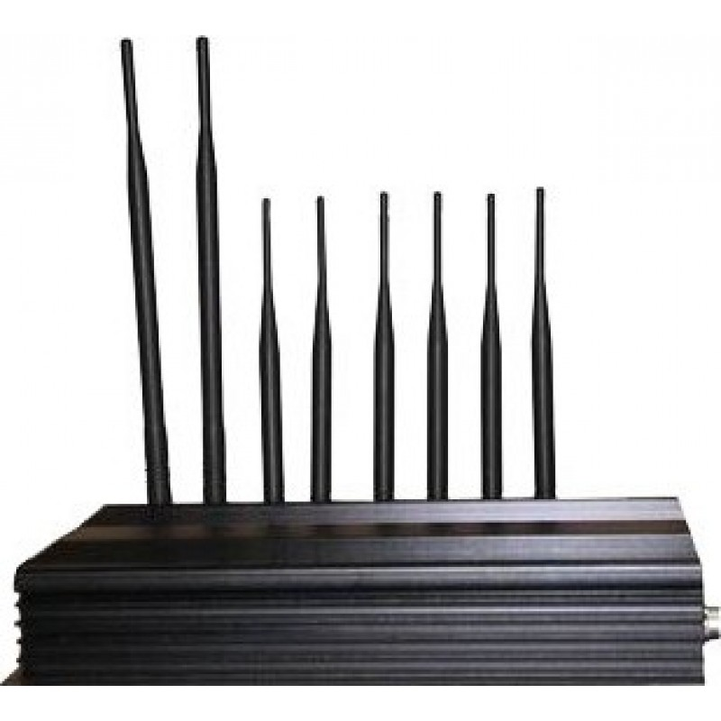 243,95 € Free Shipping   Cell Phone Jammers PC Controlled signal blocker. 8 Antennas Cell phone 3G