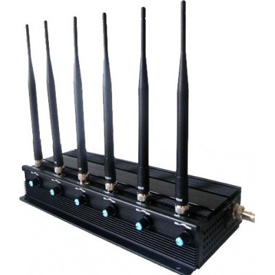 Bloqueur de signal haute puissance réglable de 15W. 6 antennes GPS