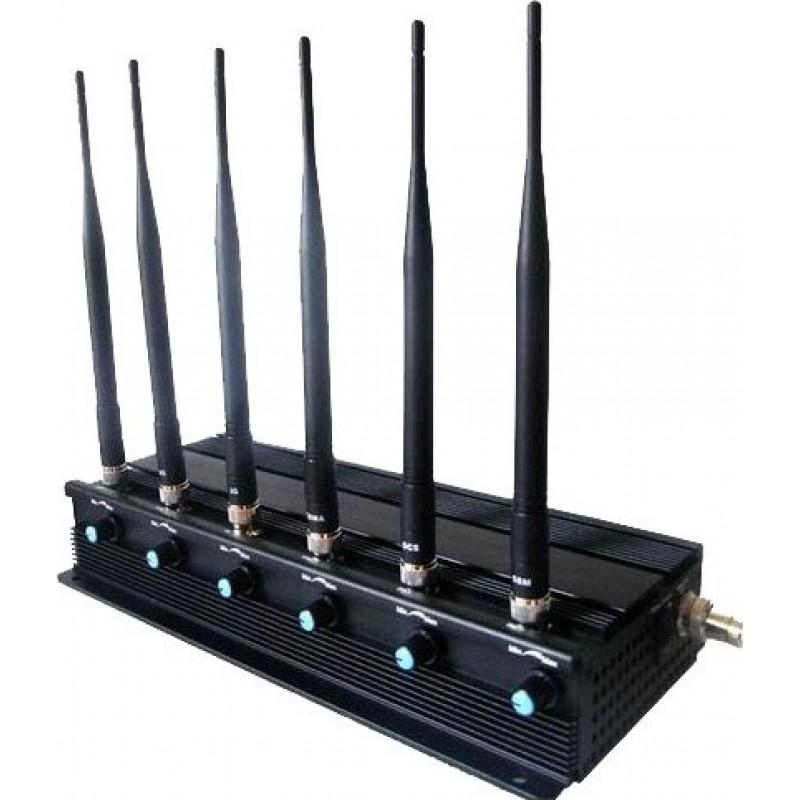 124,95 € Envío gratis | Bloqueadores de Teléfono Móvil Bloqueador de señal de alta potencia ajustable de 15W. 6 antenas GPS GPS L1