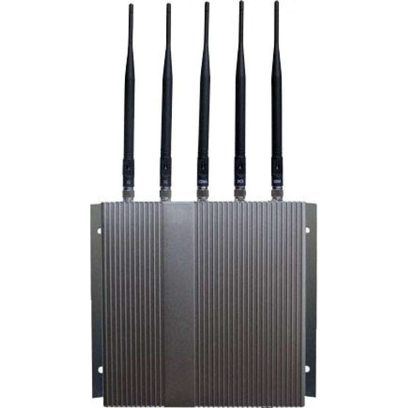 87,95 € Бесплатная доставка   Блокаторы мобильных телефонов 5 полос. Блокатор сигналов высокой мощности с дистанционным управлением Cell phone 3G