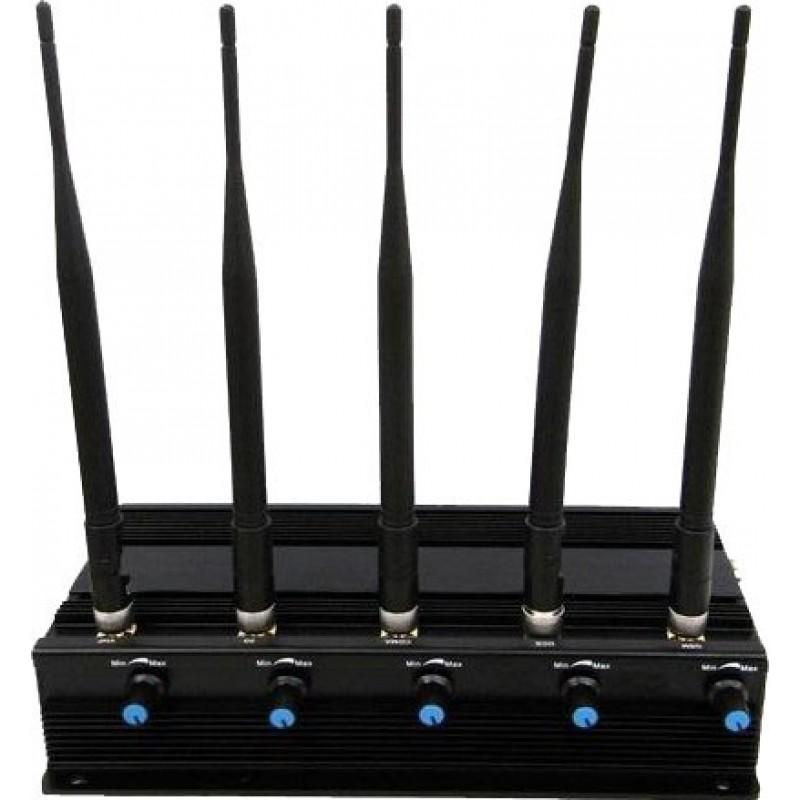 89,95 € Envio grátis | Bloqueadores de Celular 5 antenas de alta potência bloqueador de sinal Cell phone