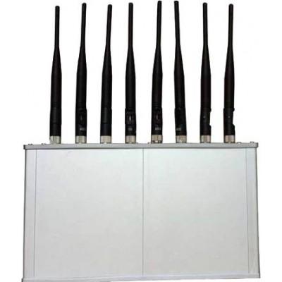 8 antennes. Bloqueur de signaux haute puissance 16W avec ventilateur Cell phone