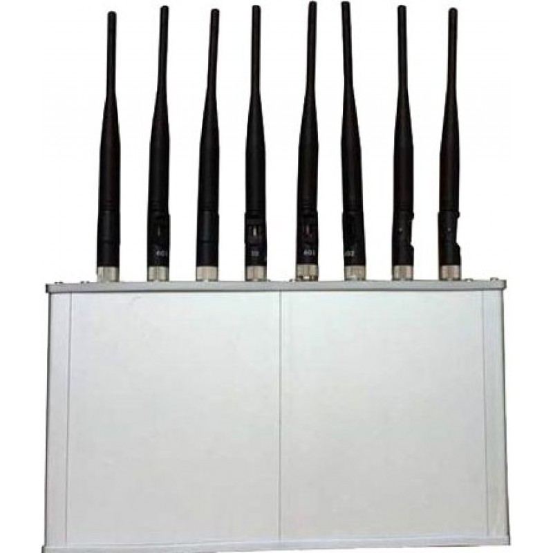 62,95 € Free Shipping | Cell Phone Jammers 8 Antennas. 16W High power signal blocker with cooling fan Cell phone 3G