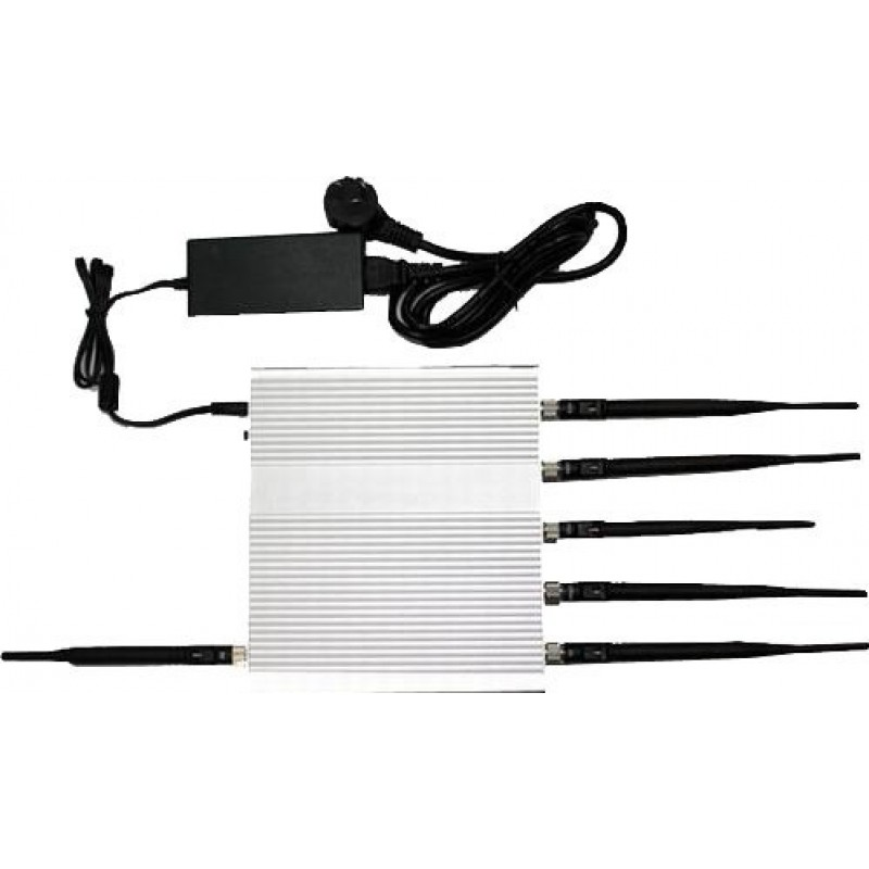 127,95 € Free Shipping   Cell Phone Jammers 6 Antennas. 15W High power signal blocker GPS