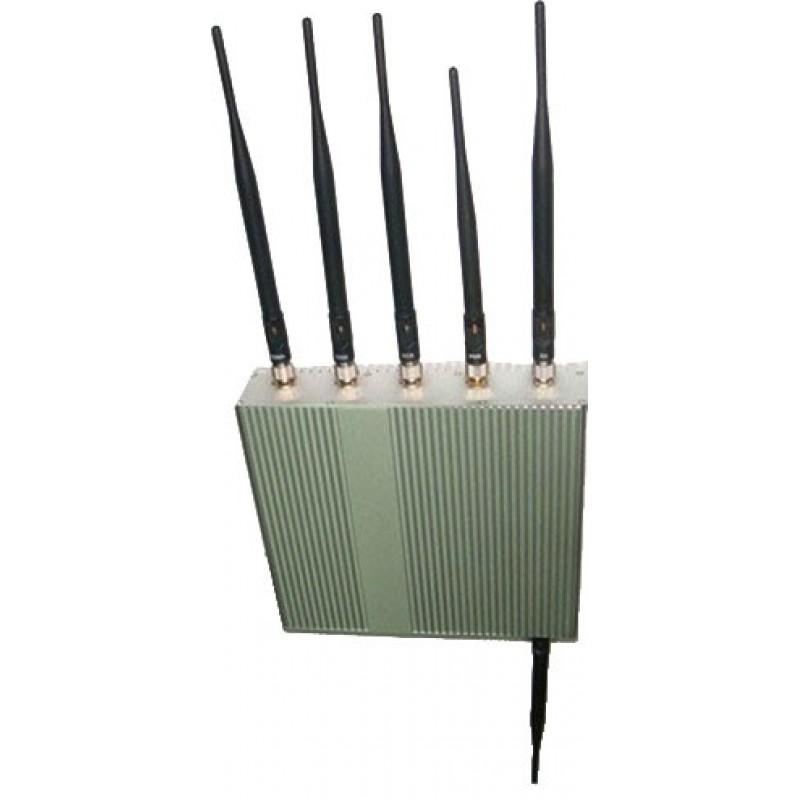 127,95 € Envoi gratuit | Bloqueurs de Téléphones Mobiles 6 antennes. Bloqueur de signaux haute puissance 15W GPS