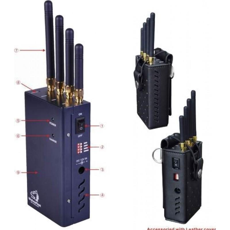 62,95 € Envoi gratuit | Bloqueurs de WiFi Bloqueur de signal portable haute puissance sans fil. Bouton sélectionnable WiFi Portable