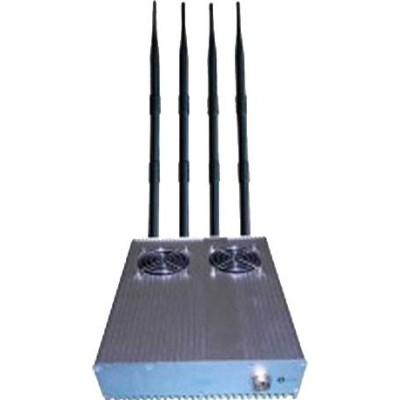 20W Bloqueur de signal de bureau puissant avec bloc d'alimentation externe amovible GPS