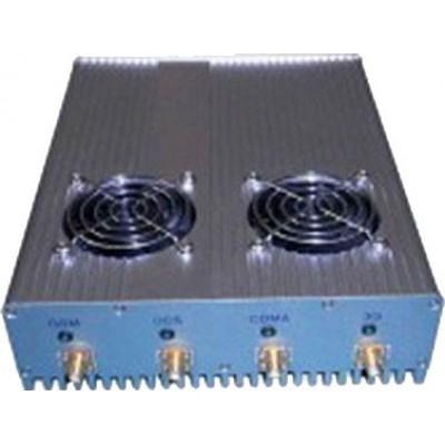 4 antennes. Bloqueur de signaux haute puissance de 20 W avec alimentation externe amovible Cell phone