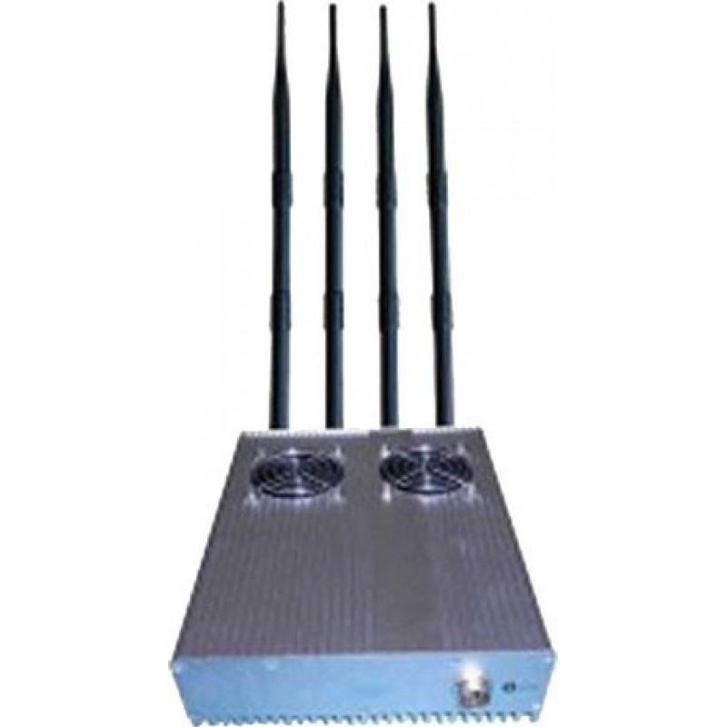 122,95 € Envoi gratuit | Bloqueurs de Téléphones Mobiles 4 antennes. Bloqueur de signaux haute puissance de 20 W avec alimentation externe amovible Cell phone 3G