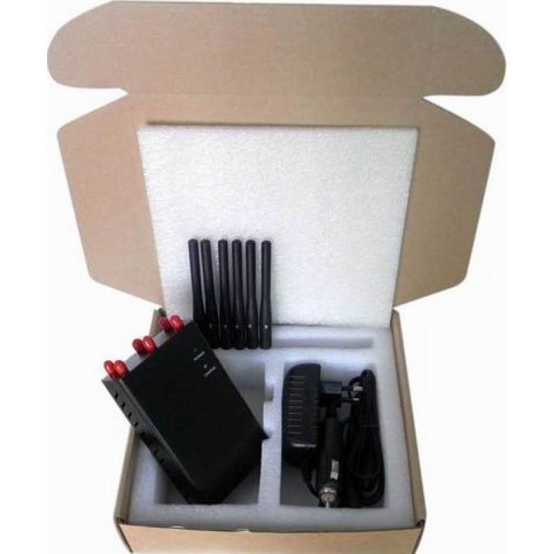 82,95 € Бесплатная доставка | Блокаторы мобильных телефонов Портативный блокатор сигналов GPS 3G Portable