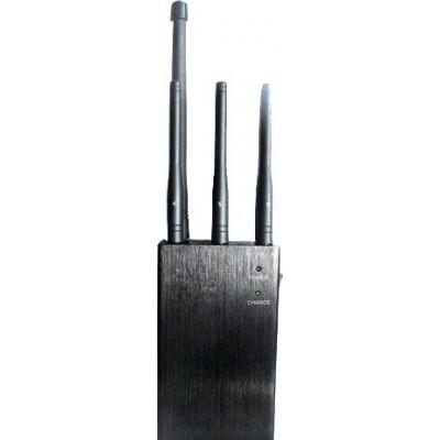 97,95 € 送料無料 | 携帯電話ジャマー 6アンテナ。選択可能なハンドヘルド信号ブロッカー GPS Handheld