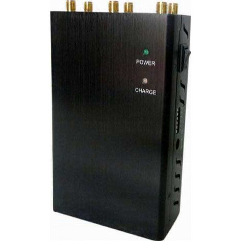 97,95 € Envoi gratuit | Bloqueurs de Téléphones Mobiles 6 antennes. Bloqueur de signal sans fil portable GPS 3G Handheld