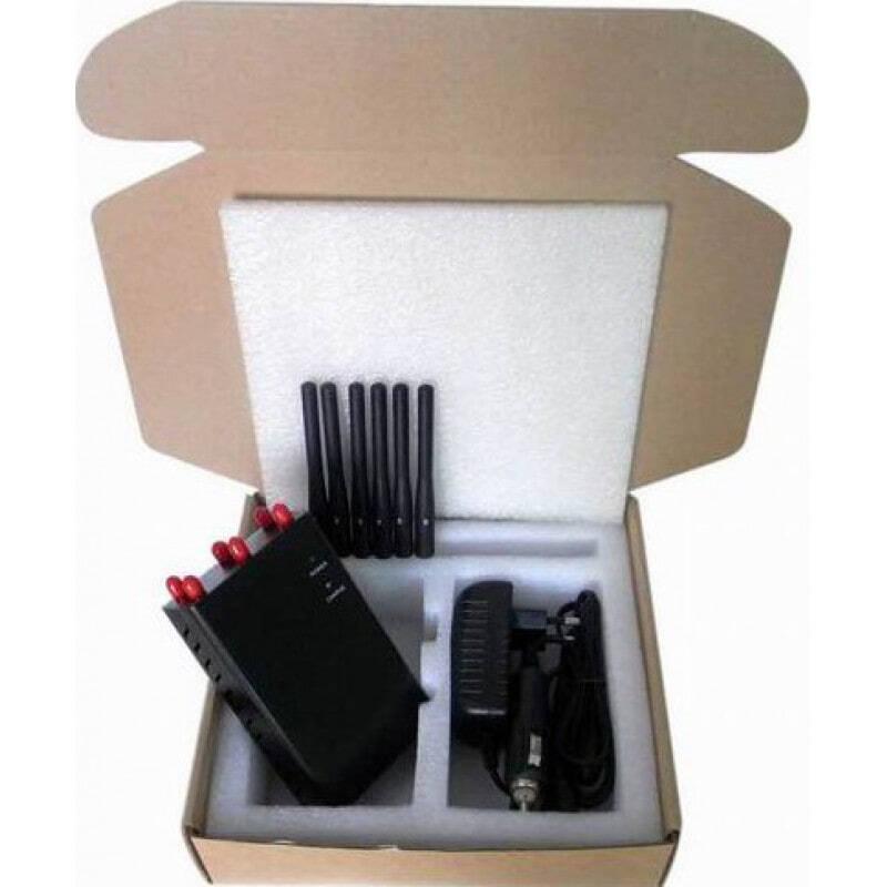 97,95 € Kostenloser Versand | Handy-Störsender 6 Antennen. Handheld Wireless Signal Blocker GPS 3G Handheld
